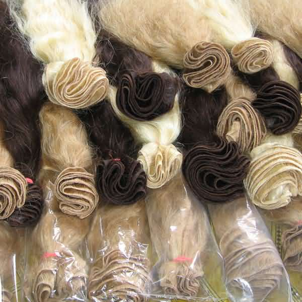 Human Hair Bleached and dyed