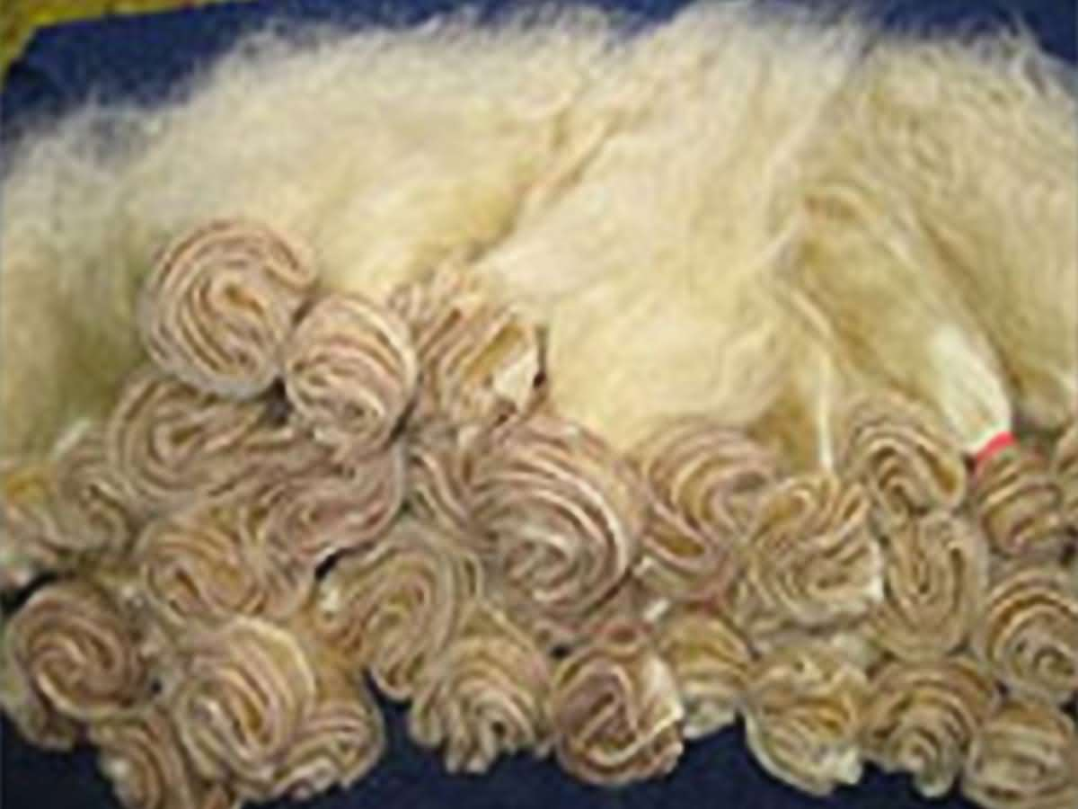 Human hair bleached machine weft